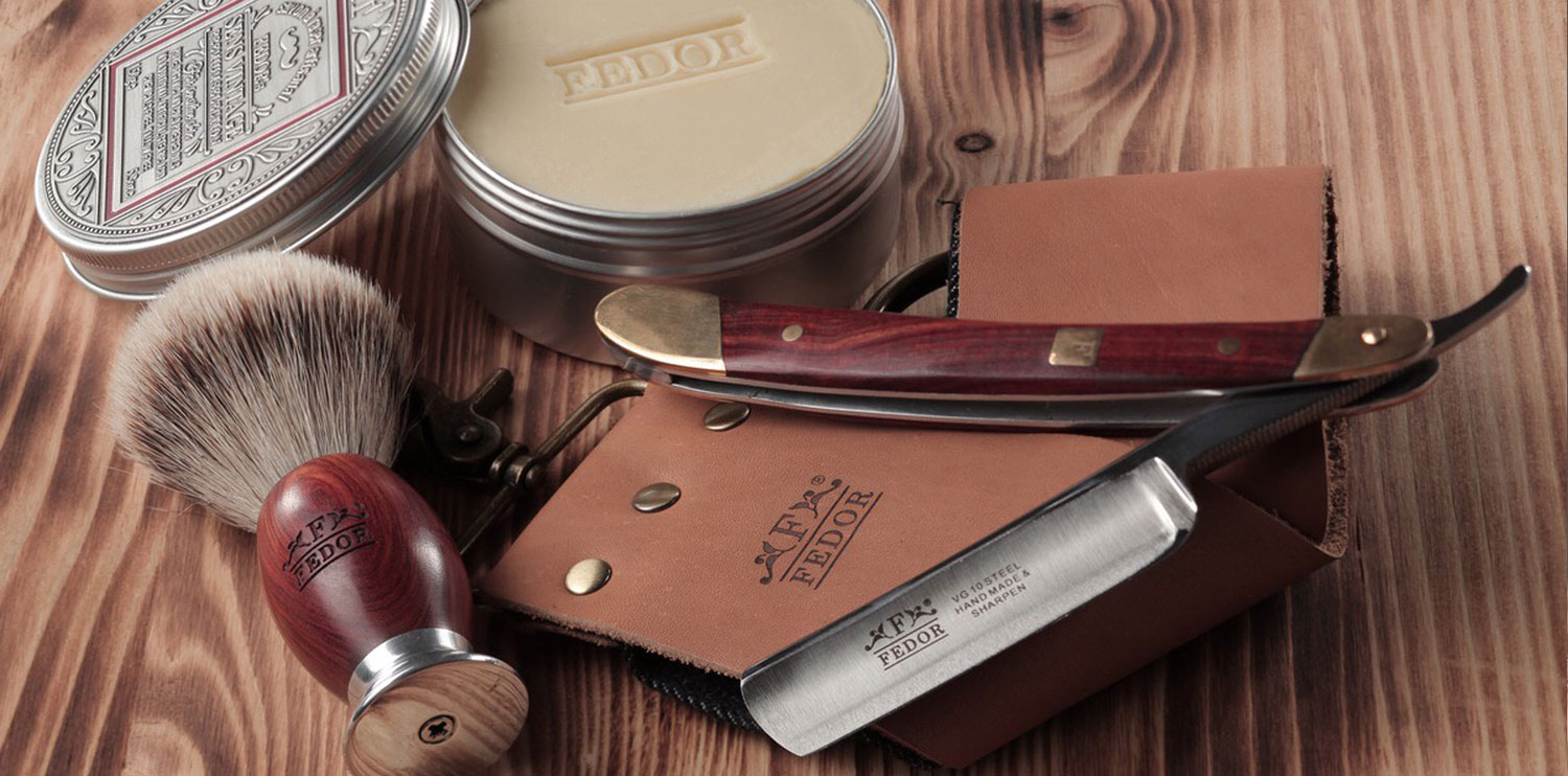 Exclusive shaving set from FEDOR with Sens Vintage soap
